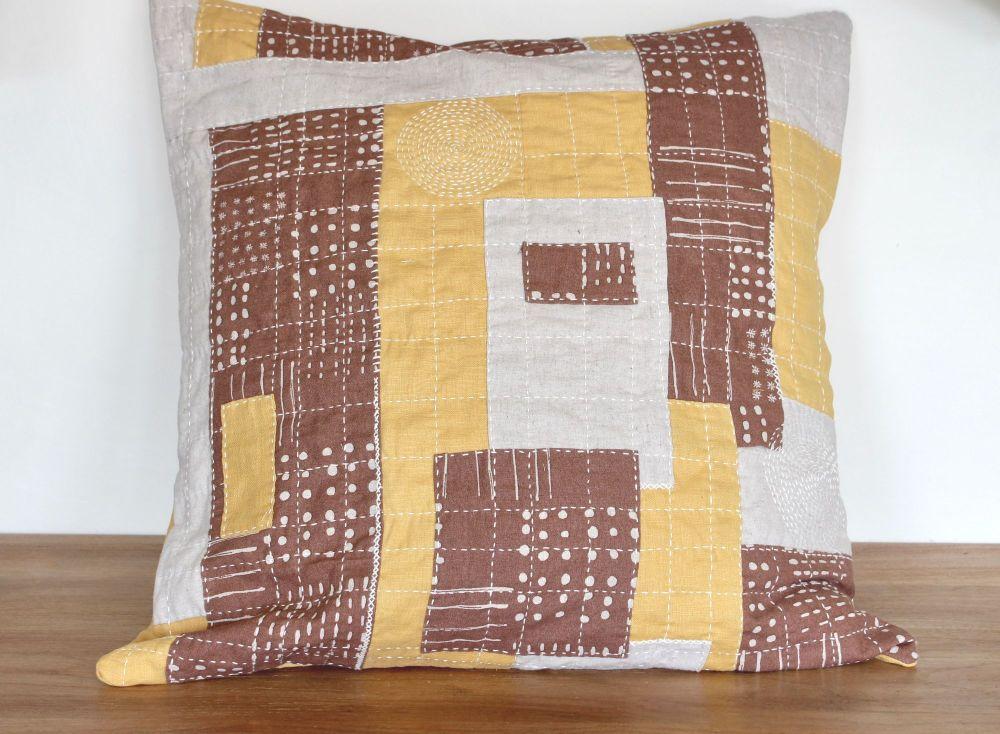 Boro Inspired Sashiko Envelope Cushion (5)