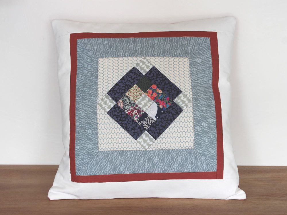 Scrappy Patch Square Quilted Cushion(2)
