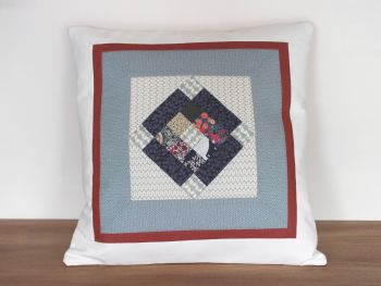 Scrappy Nine Patch Quilted Cushion