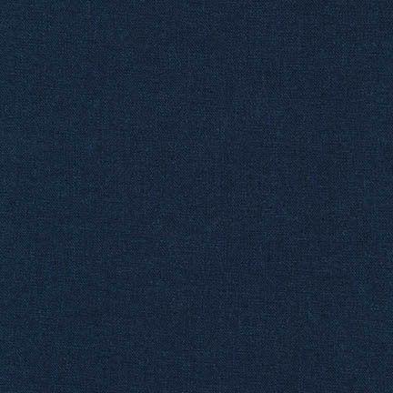 Robert Kaufman -  Brussels Washer Navy Linen Blend