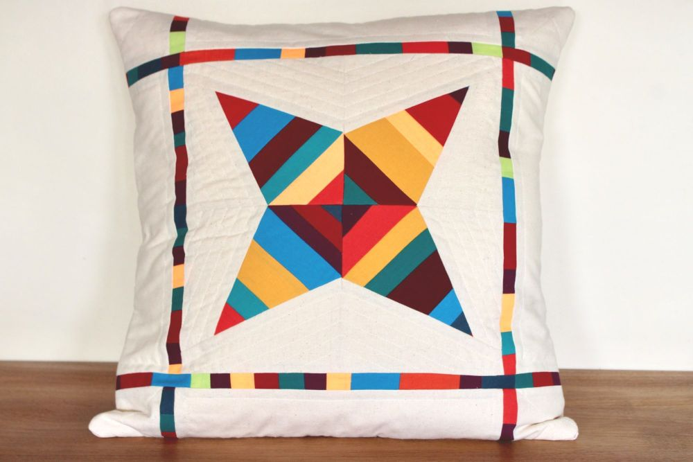 String Star Quilted Cushion (Bright)(2)