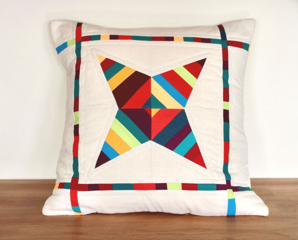 String Star Quilted Cushion (Bright)(3)