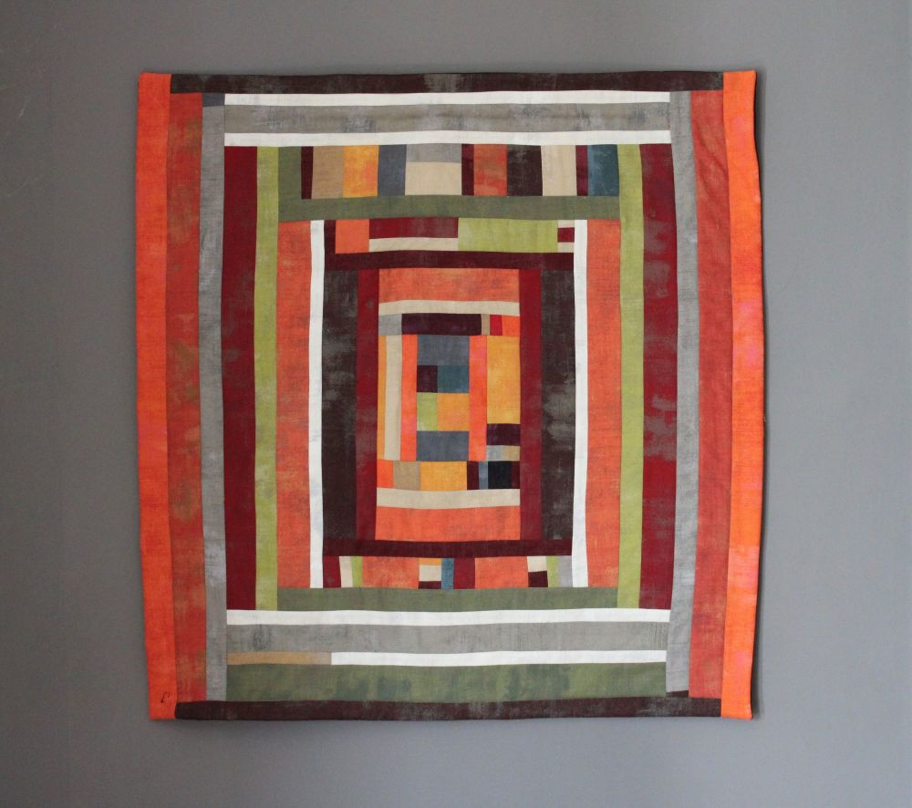 Grunge Maze Quilted Wall Hanging