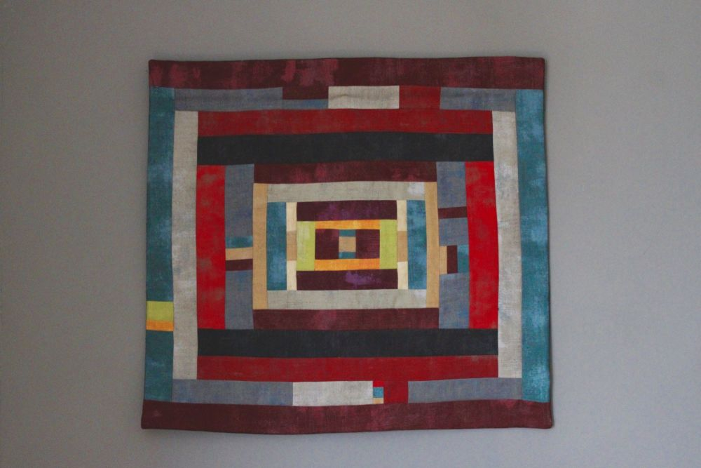 Grunge Winter Maze Quilted Wall Hanging