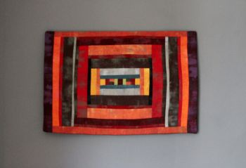 Grunge Autumn Maze Quilted Wall Hanging (Small)