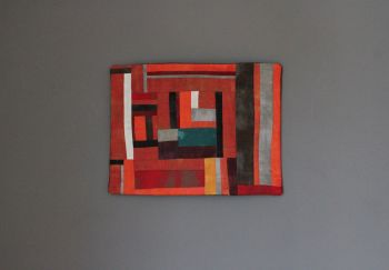 Grunge Abstract Quilted Wall Hanging (Small)