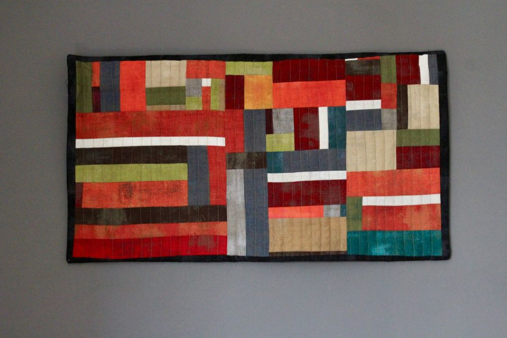 Grunge Order Quilted Wall Hanging
