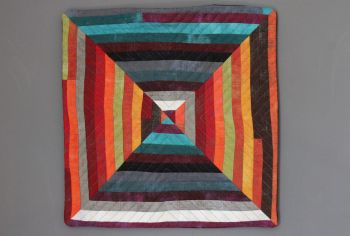 Grunge Squared Quilted Wall Hanging (Small)