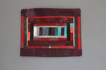 Grunge All In A Row Quilted Wall Hanging (Small)