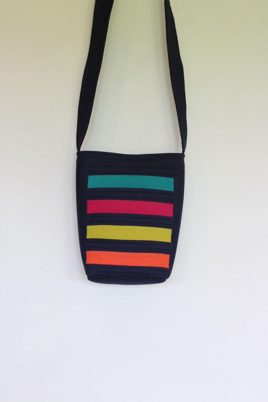 Bright Stripes Cross-Over Bag