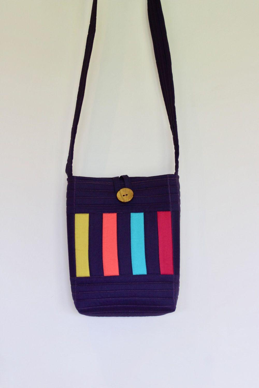 Bright Stripes Cross-Over Bag(2)