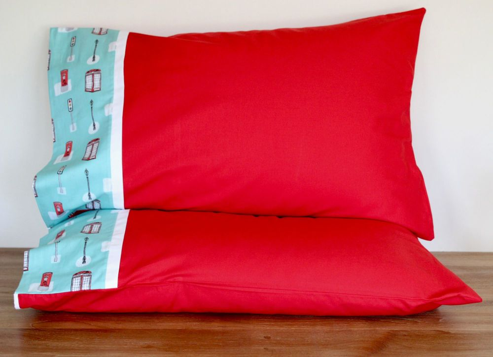 Pair of Street Life Pillow Cases(3)