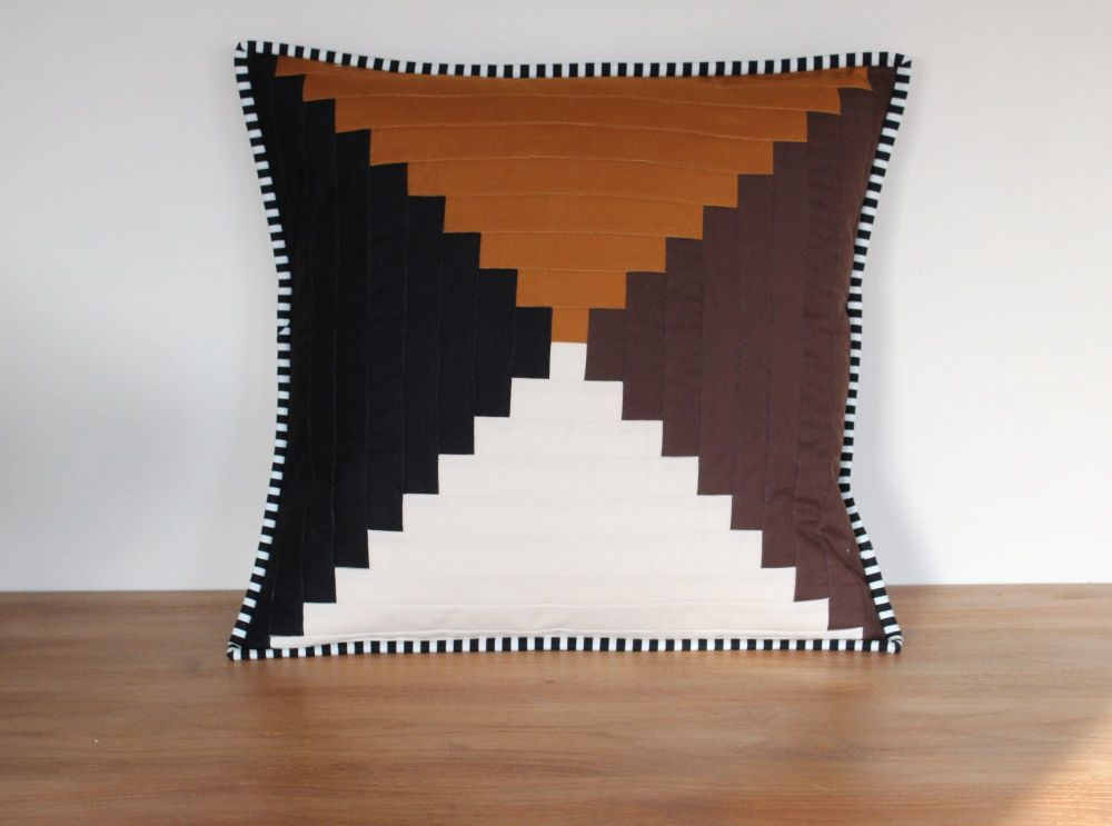 Court House Steps Quilted Cushion(2)