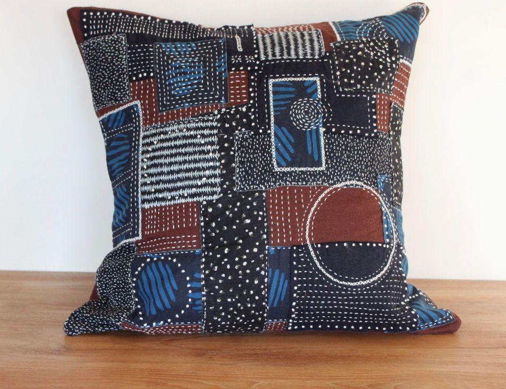 Boro/Sashiko Inspired Large Envelope Cushion (7)