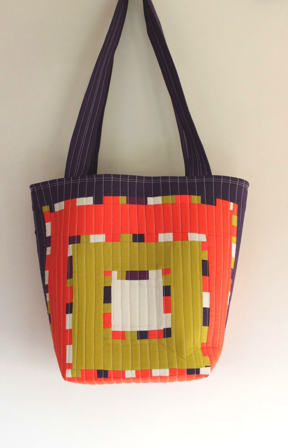 Around The Block Quilted Tote Bag