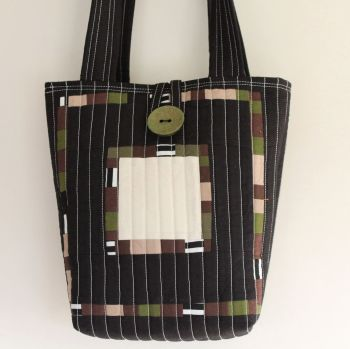 Around The Block Patchwork Tote Bag