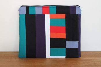 A Dorset Patchworks Bits and Bobs Quilted Pouch (Coloured Blocks)