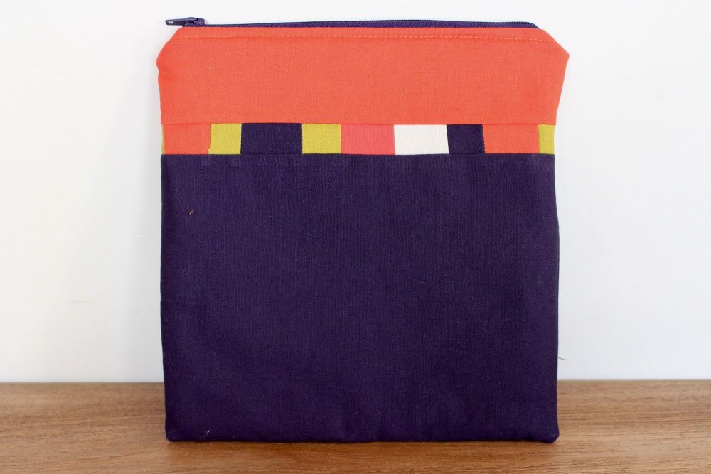 A Dorset Patchworks Bits and Bobs Quilted Pouch (Purple and Orange)