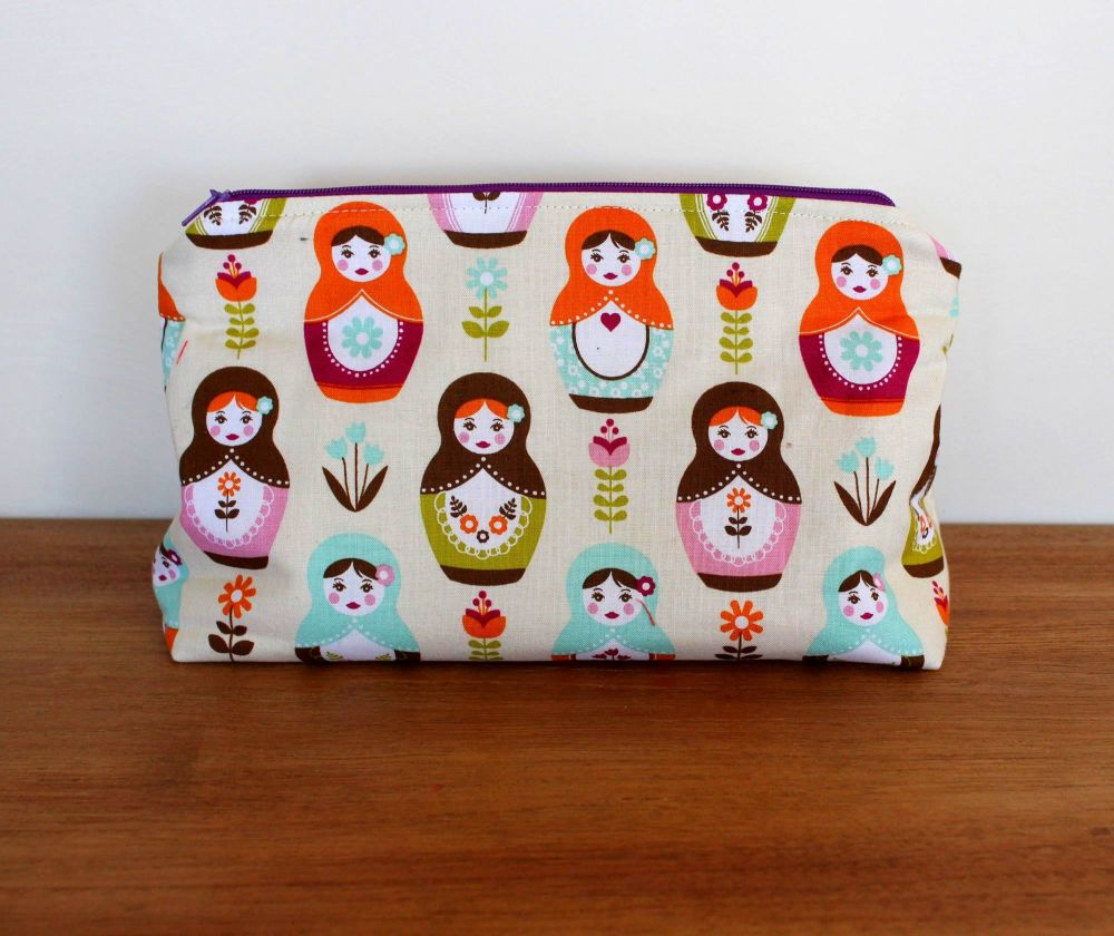 A Dorset Patchworks Bits and Bobs  Pouch (Matryoshka dolls )