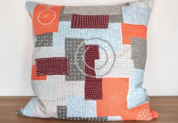 Boro/Sashiko Inspired Large Envelope Cushion (10)