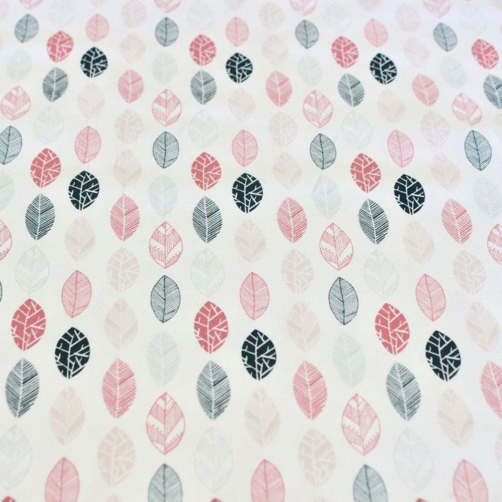 Fabric Freedom - Quirky Florals (Pink Leaf)