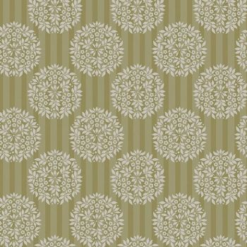 Tilda - Flower Ball Olive Fat Quarter