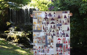 Triangles Galore II Patchwork Quilt