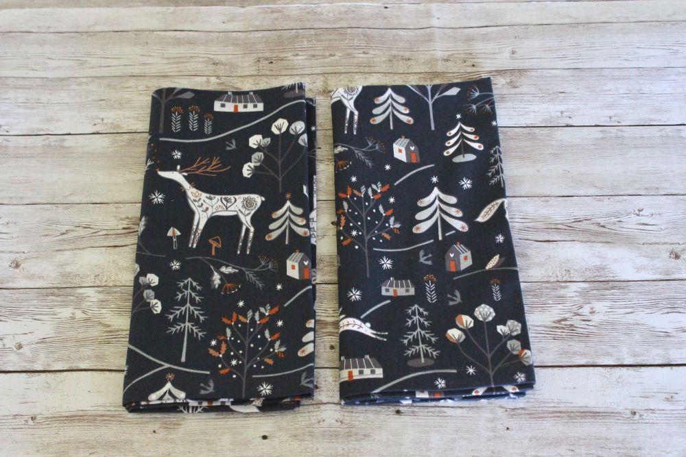 Set of Two Winterfold (Deer) Napkins