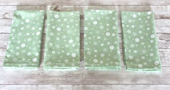Set of Four Christmas Wish Napkins