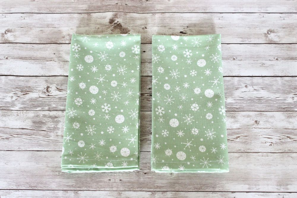 Set of Two Christmas Wish Napkins