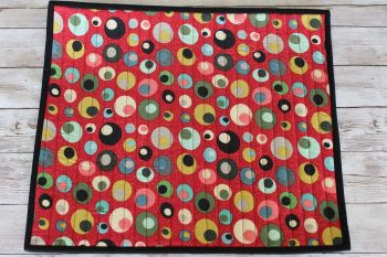 Mid Mod Circles in Red Quilted Place Mat(4)