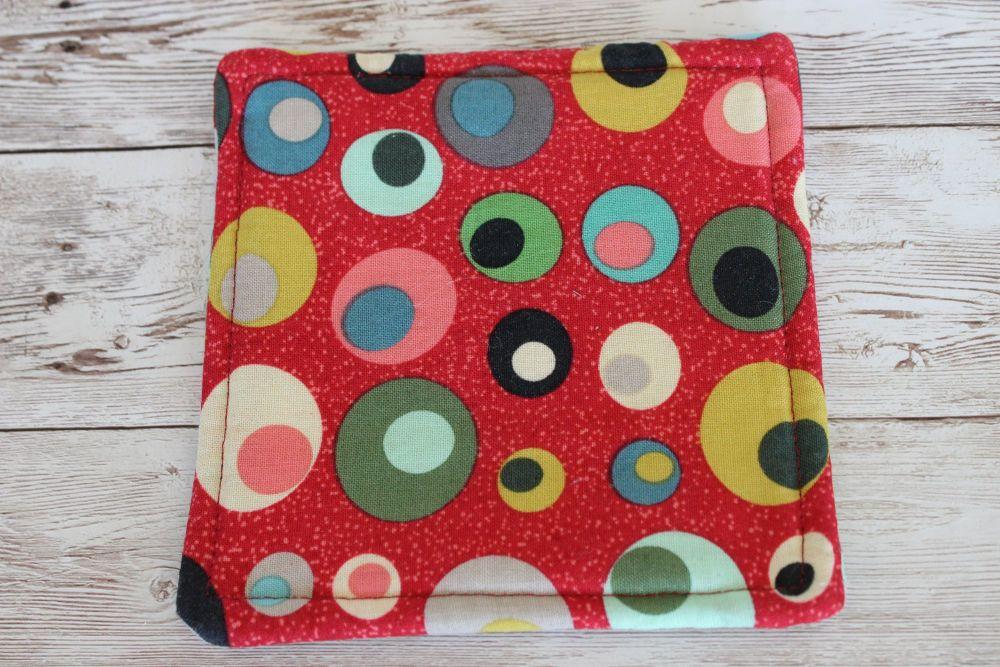 Mid Mod Reversible Fabric Coaster(1)