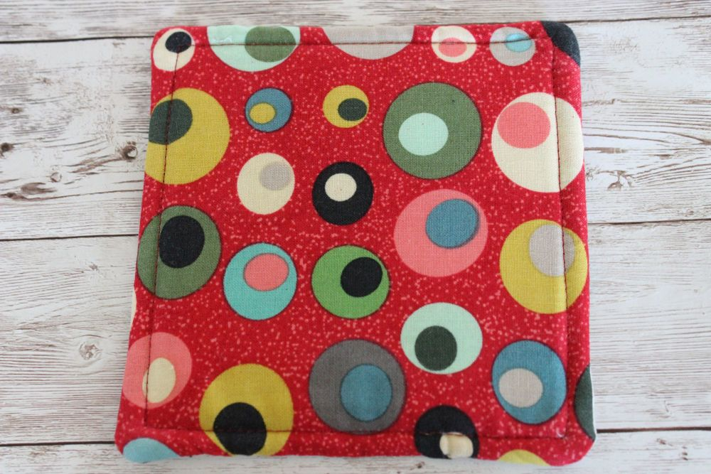 Mid Mod Reversible Fabric Coaster(2)