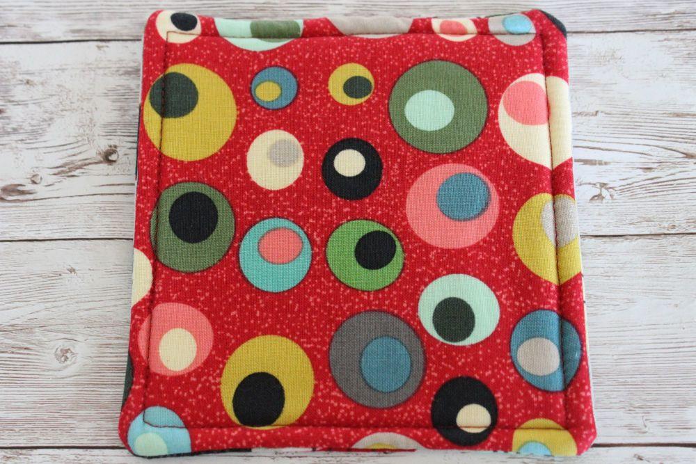 Mid Mod Reversible Fabric Coaster(3)