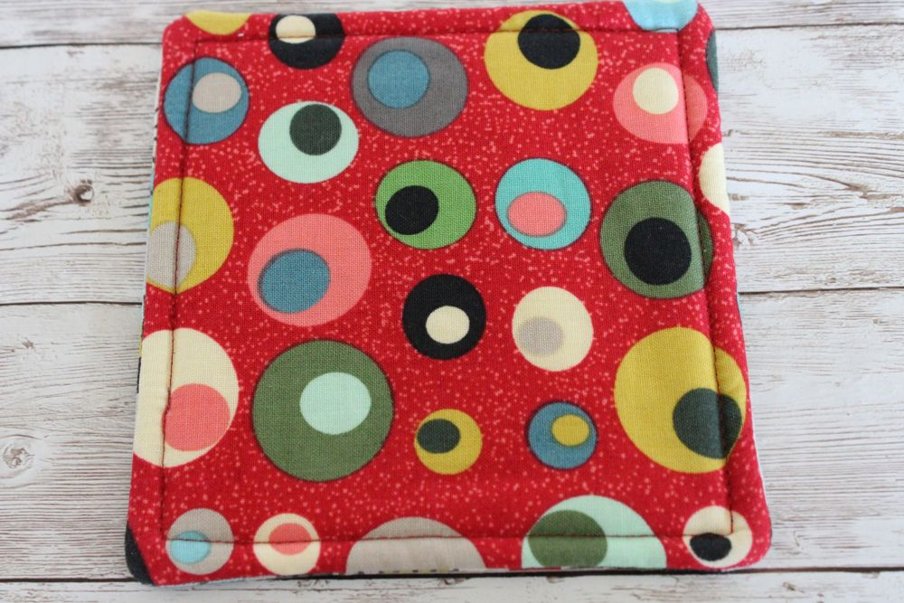 Mid Mod Reversible Fabric Coaster(4)
