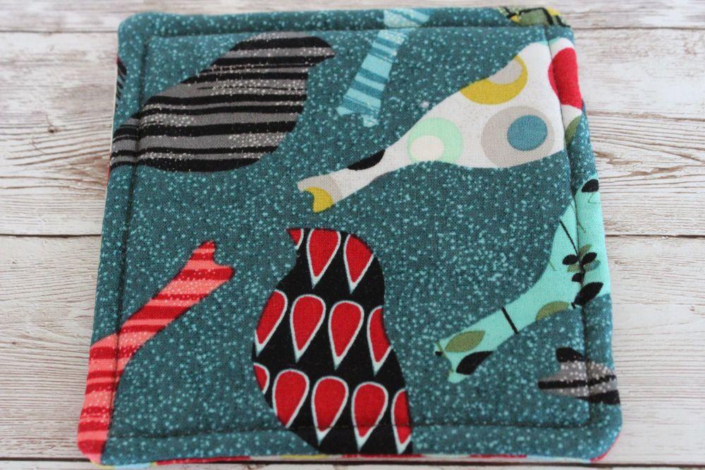 Mid Mod Reversible Fabric Coaster(6)