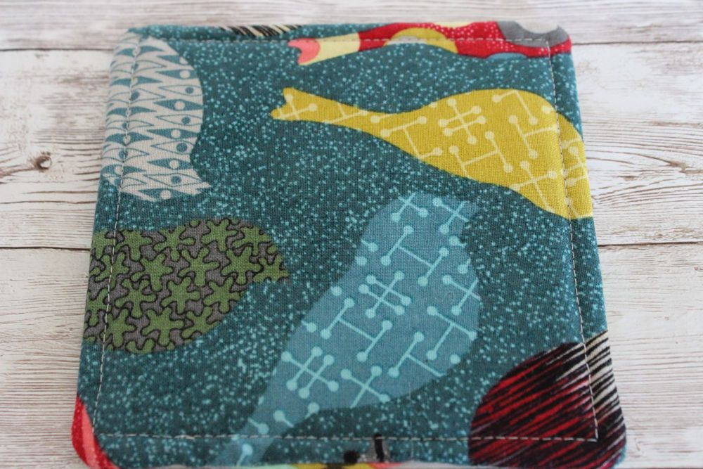 Mid Mod Reversible Fabric Coaster(7)