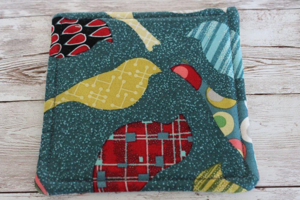 Mid Mod Reversible Fabric Coaster(9)