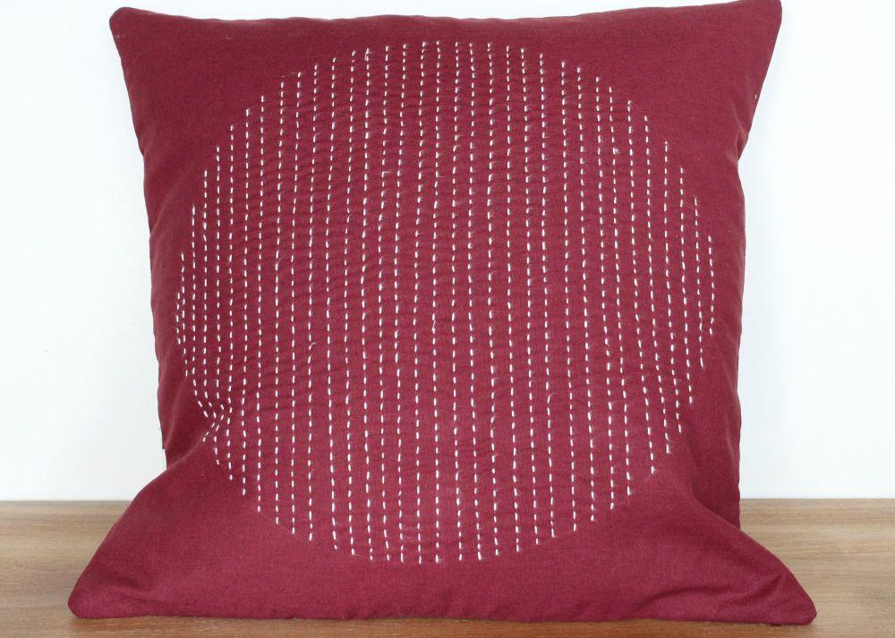 Circles Hand Stitched Envelope Cushion(3)