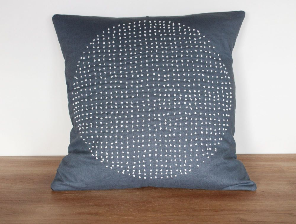 Circles Hand Stitched Envelope Cushion(2)