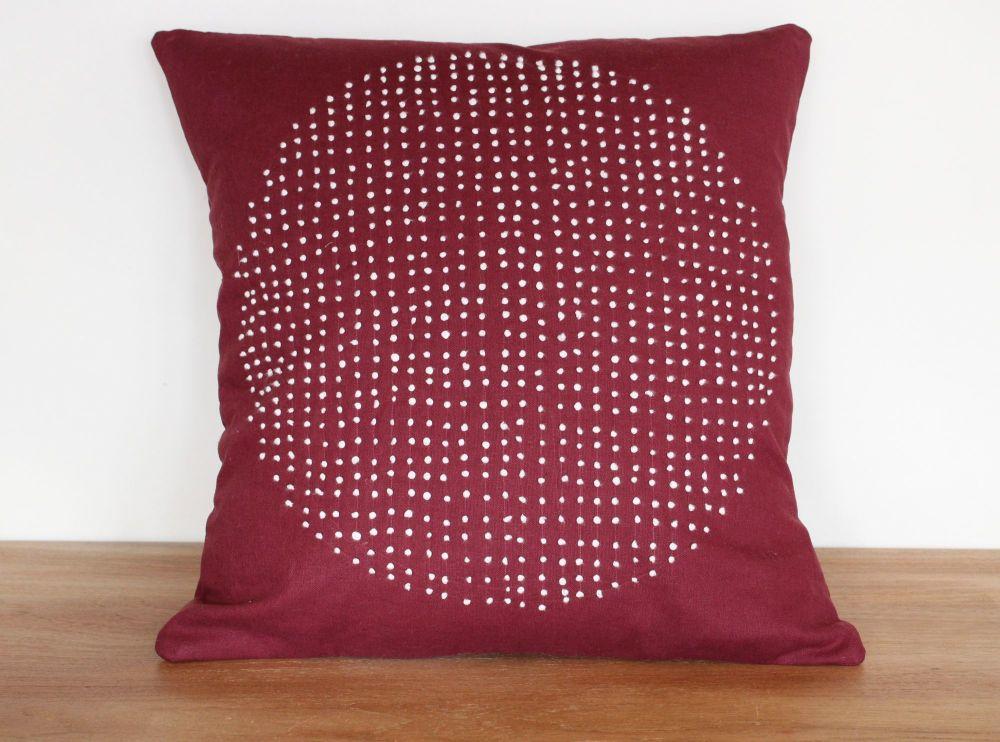 Circles Hand Stitched Envelope Cushion(1)