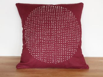 Circles Hand Stitched Envelope Cushion(1)