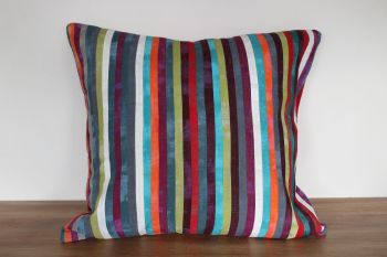 All The Colours Of The Rainbow Patchwork Envelope Cushion