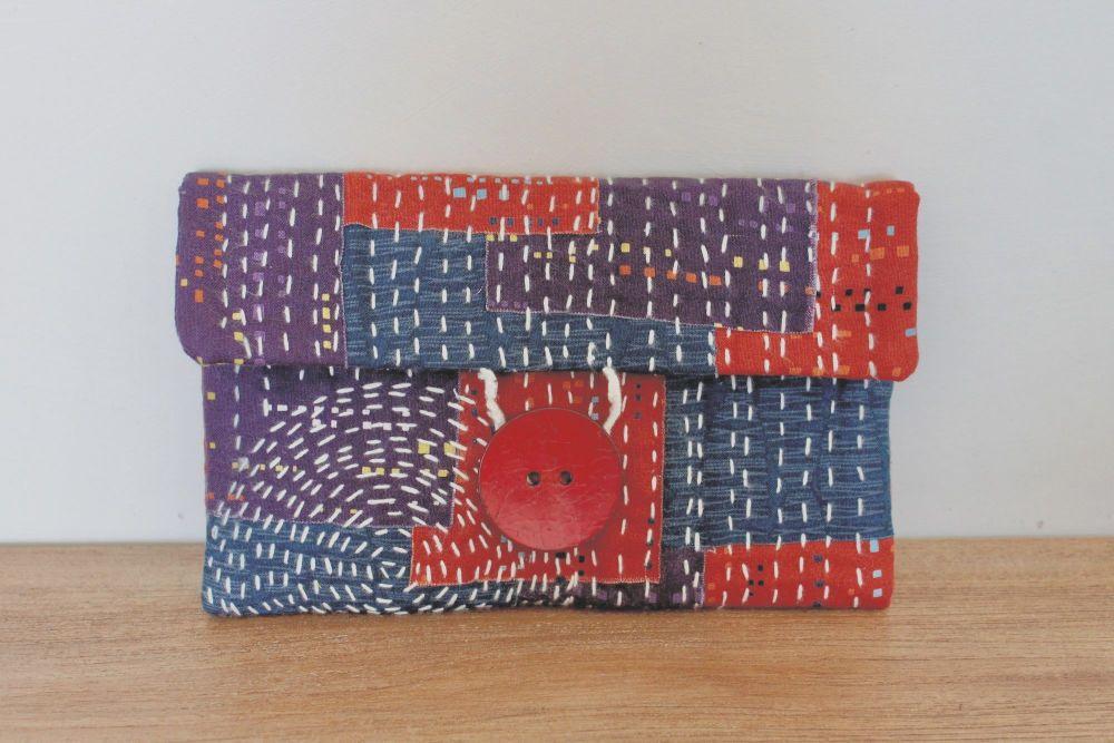 Boro Inspired Clutch Bag(2)