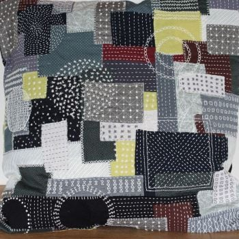 Boro/Sashiko Inspired Large Envelope Cushion (12)
