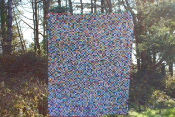 Pixels Postage Stamp Quilt Topper