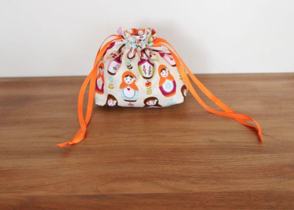 Matryoshka Dolls Drawstring Gift Bag(1)