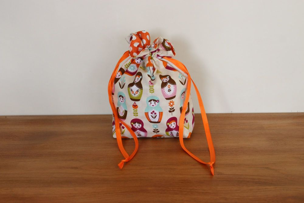 Matryoshka Dolls Drawstring Gift Bag(2)