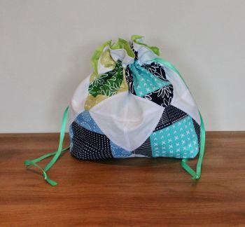 Exploding Block Drawstring Gift Bag