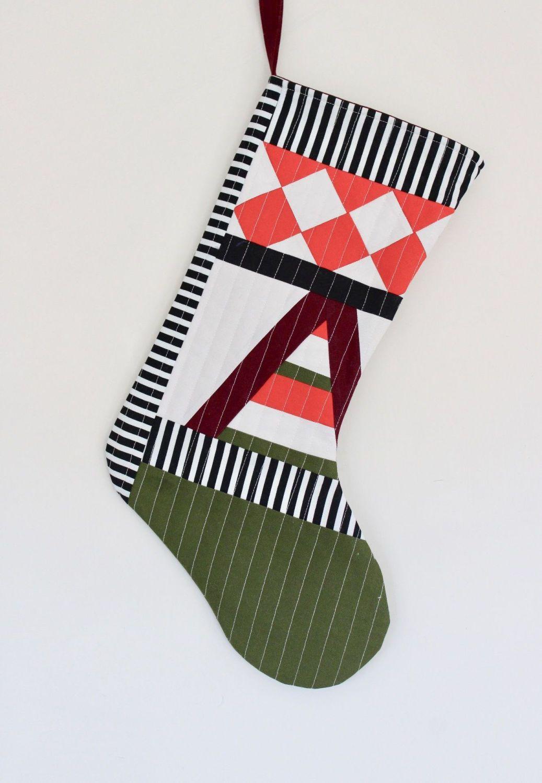 Patchwork Christmas Stocking(2)